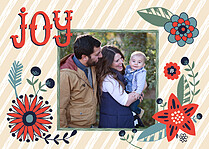 Joyous Holiday Holiday Flat Cards - Front