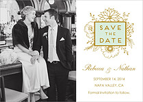 Lovely Landscape Date Save the Date Flat Cards - Front