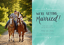 Marvelous Marriage Date Save the Date Flat Cards - Front