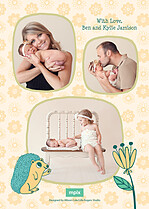 New Addition Birth Announcements Flat Cards - Back