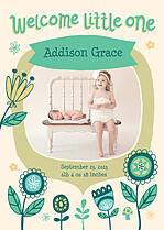 New Addition Birth Announcements Flat Cards - Front