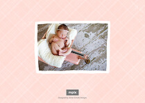 Nice To Meet You Pink Birth Announcements Flat Cards - Back
