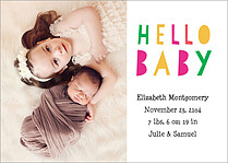 Oh Baby Baby Birth Announcements Flat Cards - Front