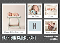 Photo Shoot Fun Birth Announcements Flat Cards - Front