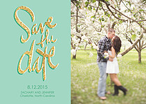 Sparkling Date Save the Date Flat Cards - Front