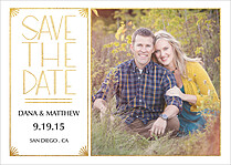 True Love Date Save the Date Flat Cards - Front