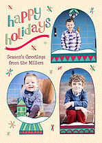 Wintery Wonder Holiday Flat Cards - Front