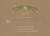 Blooming RSVP Mint RSVP Flat Cards - Front