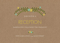 Blooming Reception Mint Reception Flat Cards - Front