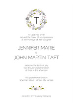 Bouquet Invitation Gray Wedding Invites Flat Cards - Front