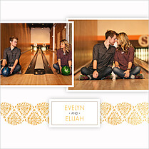 Damask Frame Invitation Square - Back