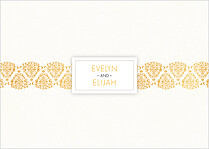 Damask Frame Reception Reception Flat Cards - Back