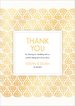 Damask Frame Thank You - Front