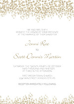 Dazzling Invitation Gold Wedding Invites Flat Cards - Front
