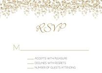 Dazzling RSVP Gold RSVP Flat Cards - Front