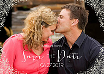 Diamond Date Save the Date Flat Cards - Front