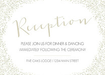 Diamond Reception Reception Flat Cards - Front