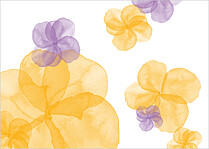 Floral Watercolor Reception Reception Flat Cards - Back