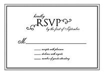 Gatsby RSVP Black RSVP Flat Cards - Front