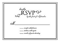 Gatsby RSVP Black - Front