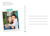 Postcard Date Aqua Save the Date Flat Cards - Back
