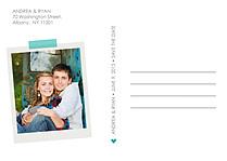 Postcard Date Aqua - Back