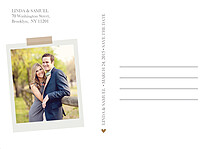 Postcard Date Neutral Save the Date Flat Cards - Back