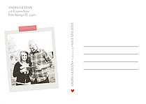 Postcard Date Red Save the Date Flat Cards - Back