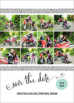 Delightful Dozen Date Save the Date Flat Cards - Front