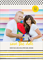 Genuine Love Date Save the Date Flat Cards - Front