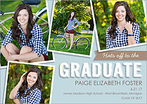 Hats Off Graduation Flat Cards - Front