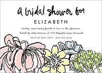 Lovely Petals Shower Shower Invites Flat Cards - Front