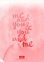 Me And You Date Save the Date Flat Cards - Back