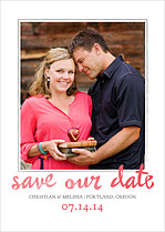 Me And You Date Save the Date Flat Cards - Front