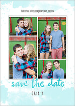 Sea Breeze Date Save the Date Flat Cards - Front