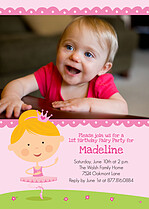Ballerina Bash Birthday Party Invitations Flat Cards - Front