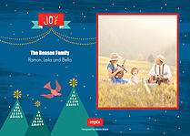 Fowl Play Holiday Flat Cards - Back