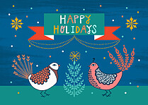 Fowl Play Holiday Flat Cards - Front