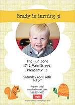 Friendly Forest Birthday Party Invitations Flat Cards - Back