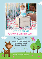 Gleeful Gathering Birthday Party Invitations Flat Cards - Front