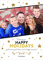 Golden Holiday Holiday Flat Cards - Front