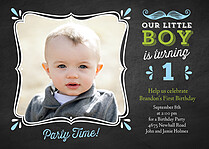 Happy Times Birthday Party Invitations Flat Cards - Front