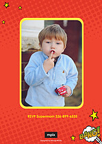 Super Shindig Boy Birthday Party Invitations Flat Cards - Back