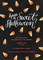 Sweet Treats Halloween Flat Cards - Front