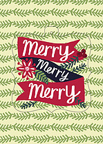 Country Delight Pop Ornate Holiday Modern Pop Cards - Front