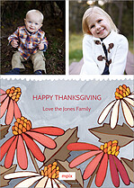 Full Bloom Thanksgiving Flat Cards - Back