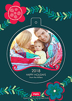 Garland Pop Circle Holiday Modern Pop Cards - Back