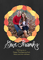 Harvest Season Thanksgiving Flat Cards - Front