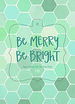 Hexametric Aqua Pop Ornate Holiday Modern Pop Cards - Front