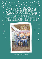 Joyous World Green Folded Card - Front